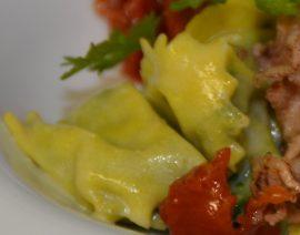 Ravioli mit Spinat-Käse-Füllung