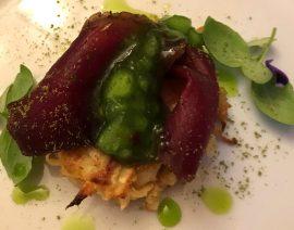 Max' Geschmacks Vorschlag: Fenchel-Pfannkuchen mit Birnen-Thymian-Dip